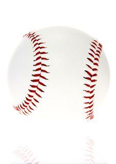 Free Baseball Ball Isolated On White Background Stock Photography - 4354132