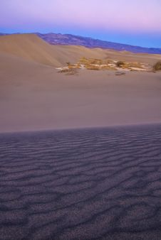 Free Sand Dunes Near Stovepipe Wells, Death Valley Stock Images - 4354254