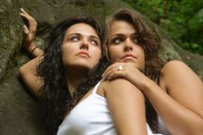 Free Two Sisters In Nature Stock Photo - 4354660