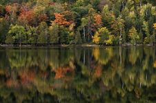 Free Fall Lake Reflection Stock Photography - 4355132