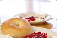 Free Breakfast Bagel Stock Photography - 4355532