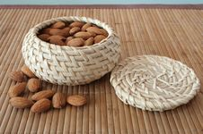Free Almonds In The Basket Royalty Free Stock Image - 4355746