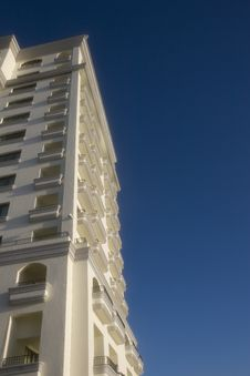 Free White Balconies On Blue Stock Photography - 4356052