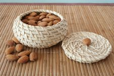 Free Almonds In The Basket Royalty Free Stock Photography - 4356187