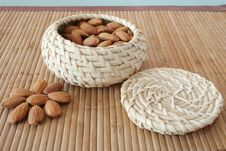 Free Almonds In The Basket Stock Photography - 4356272