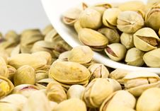 Free Pistachios From Bowl Royalty Free Stock Photo - 4356295