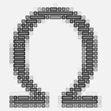 Free Omega Symbol Royalty Free Stock Image - 4356766