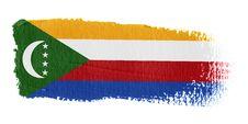 Brushstroke Flag Comoros Stock Images