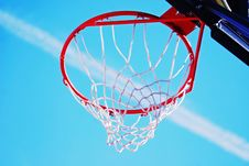 Jet Set Basketball Net Royalty Free Stock Photo