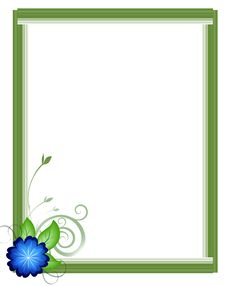 Free Floral Picture Frame Royalty Free Stock Photo - 4357875