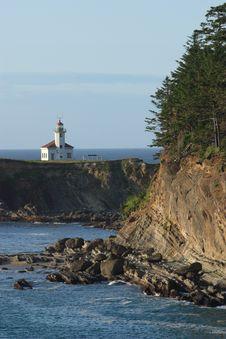 Free Cape Arago Lighthouse Royalty Free Stock Photos - 4357938