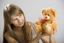 Free A Young Girl With A Toy Royalty Free Stock Photo - 4358235
