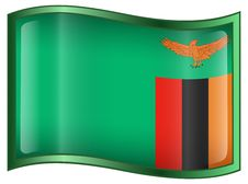 Free Zambia Flag Icon Stock Images - 4358434