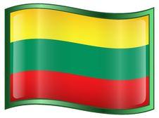 Free Lithuania Flag Icon Stock Image - 4358441