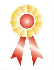 Free Award Ribbon Badge Shaded Stock Photos - 4358693