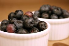 Free Blueberries In A White Bowl Stock Images - 4358964