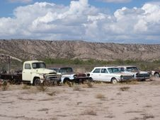 Free Cars In The Desert Stock Photography - 4359212