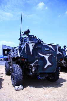 Free Armored Personnel Carrier Royalty Free Stock Image - 4359326
