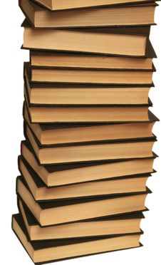 Free Many Books Lay On A White Background Stock Photos - 4359903