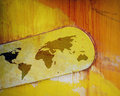 Free World Map Of Rusting Paintwork Royalty Free Stock Photo - 4369655