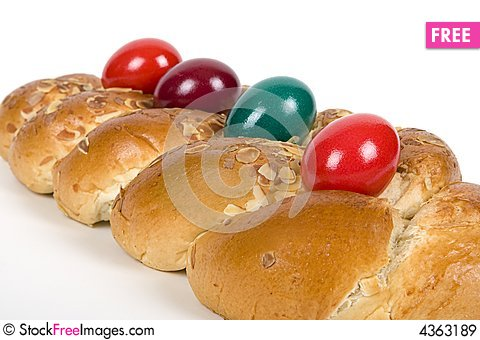 Free Easter Plaited Danish Pastry Royalty Free Stock Images - 4363189