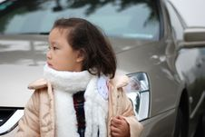 Free Girl Near The Car Stock Photography - 4360542
