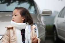 Free Girl Near The Car Stock Images - 4360604