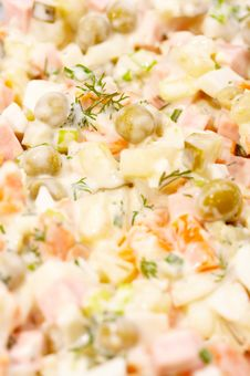 Free Meat Salad Royalty Free Stock Image - 4360966