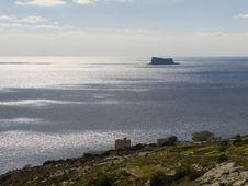 Free Solitary Filfla Island Royalty Free Stock Image - 4361166