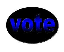 Free Blue Vote Badge Stock Photo - 4361570
