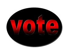 Free Red Vote Badge Stock Images - 4361574