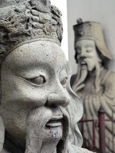 Free Asian Face Statue Royalty Free Stock Images - 4362109