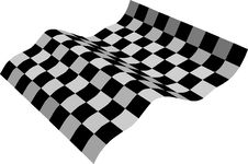 Free Three-dimensional Black And White Flag Royalty Free Stock Photography - 4362837