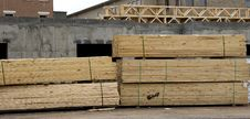 Free Lumber At Job Site Stock Images - 4362984