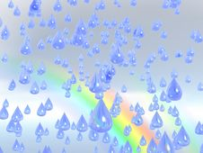 Free Rain Drops Royalty Free Stock Photography - 4363107