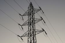 Free Mast And Power Lines Stock Photography - 4363142
