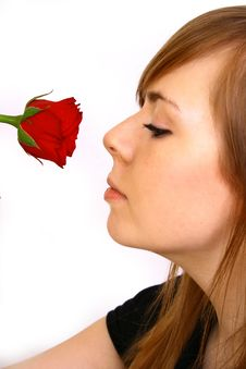 Free Woman With Rose Royalty Free Stock Photo - 4363475