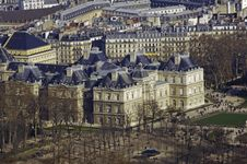 France, Paris; Sky City View With Palace Royalty Free Stock Photo
