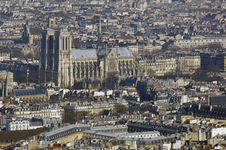 Free France, Paris; Sky City View With Cathedral Stock Image - 4363771