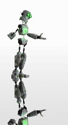 Free Robot Green Eyes Stock Images - 4364054