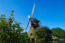 Free Dutch Mill On The Waterside Royalty Free Stock Photos - 4364118