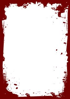 Free Red Frame With Spots Stock Photography - 4364122