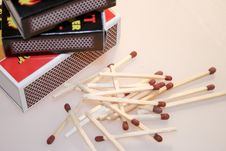 Free Box With Matches Stock Photos - 4364843