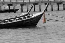Thai Boat Black & White Royalty Free Stock Images