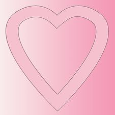 Free Open Heart On Pink Background Royalty Free Stock Photography - 4365097