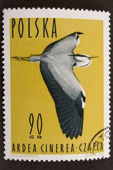 Free Old Stamp With Bird Stock Image - 4365111