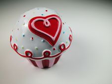 Free Plastic Valentines Cup Cake Stock Photo - 4365190