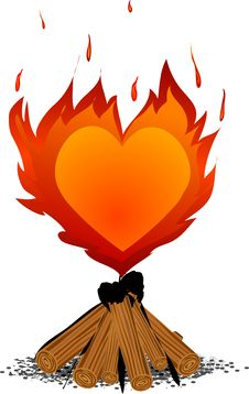 Free Vector_burning Heart.jpg Stock Images - 4366024
