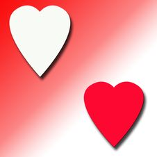 Free Red And White Hearts Background Stock Photo - 4366030