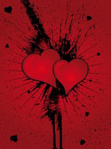 Free Heart Grunge Splatter Royalty Free Stock Photo - 4366405